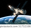 Space Shuttle And International Space Station In 31732106
