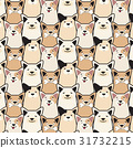 Vector animal seamless dog pattern. Pug cartoon 31732215