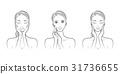 女性的面部表情 31736655