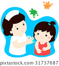 Vaccination child cartoon vector. 31737687