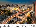Cityscape And Traffic On Road Near At Bangkok 31737731