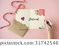 Love Fondness Flower Boarder Card Concept 31742546