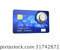 Credit card with Combination Lock, 31742672