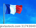 France flag on the sky background.  31743640