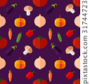vegetable seamless pattern 31744723