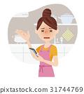 homemaker, youthful, kitchen 31744769