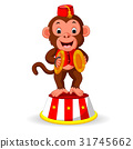 cute monkey playing percussion hand cymbals 31745662
