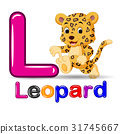 Cute leopard and alphabet 31745667