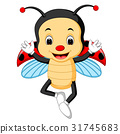ladybug waving hand with wing 31745683