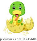 Cute baby snake cartoon 31745686