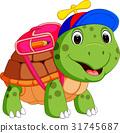 Cute turtle go to school 31745687