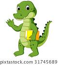 Cute crocodile carrying book 31745689
