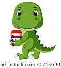 Cute crocodile carrying book 31745690