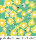 蜜蜂 向日葵 蝴蝶 31745845