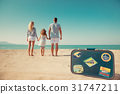 family, beach, happy 31747211