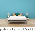 3D Rendering bedroom on background, interior 31747337