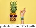 pineapple, fashion, OK 31747489