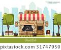 Street Cafe. Flat design concept 31747950