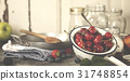 Ingredients for making berry jam 31748854