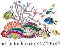 홍형 바람 오키나와의 바다 생물 - 열대어와 산호 31749634