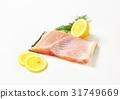 Raw carp fillet 31749669