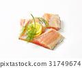 Raw carp fillets 31749674