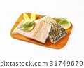 Raw carp fillets 31749679