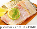 Raw carp fillets 31749681