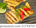 Grilled carp fillets 31749707