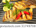 Grilled carp fillets 31749708
