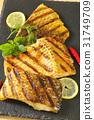 Grilled carp fillets 31749709