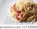 carbonara, spaghetti, bacon 31749988