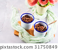 Red quinoa with vegetables in mugs 31750849