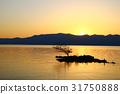 lake biwa, evening scene, sunset 31750888