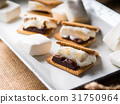 Home made smore marshmallow treat for kids 31750964