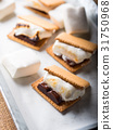 Home made smore marshmallow treat for kids 31750968