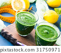 Green detox smoothie for diet 31750971