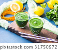 Green detox smoothie for diet 31750972