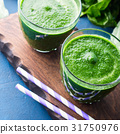 Green detox smoothie for diet 31750976