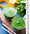 Green detox smoothie for diet 31750977