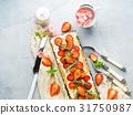 cheese, cake, strawberry 31750987