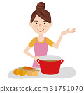 Young housewife kitchen 31751070