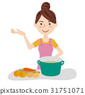 Young housewife kitchen 31751071