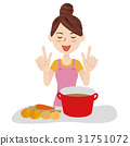 Young housewife kitchen 31751072