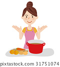 Young housewife kitchen 31751074