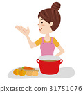 Young housewife kitchen 31751076