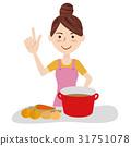 主婦 家庭主婦 年輕 31751078