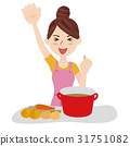 Young housewife kitchen 31751082