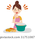 Young housewife kitchen 31751087