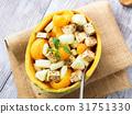 Vegan salad with melon and tofu cheese 31751330